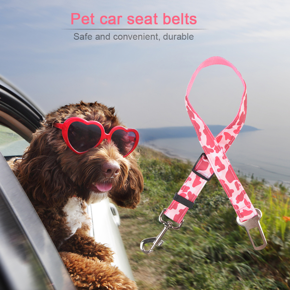 Dogs Safety Car Safety Belt Puppy Pet Waist Belt Teddy Safety Belts Leash Used for Collar Harness pet safety Car accessories in Seat Belts Padding from Automobiles Motorcycles