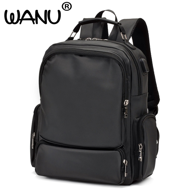 0db4250345 WANU 2018 Leisure Men s Backpack Young Waterproof Oxford Bags Fashion Backpacks  Campus School Bag Male Totes Travel Bag Have Usb