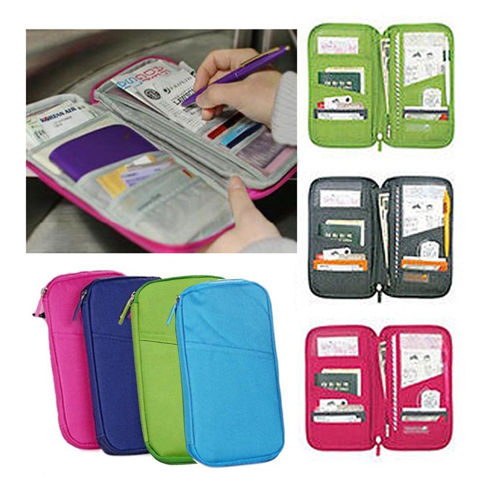 Multifunctional Bags Travel Passport Holder Ticket Wallet Handbag ID Credit Card Case Organizer Bag J2Y
