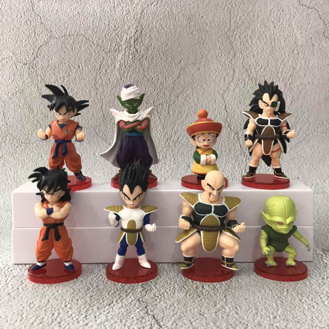 8 pçs/set Anime Dragon Ball Goku Versão Bonito PVC Action Figure Toy Modelo