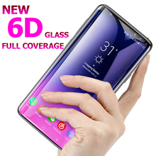 6D Tempered Glass For Samsung Galaxy S8 Plus Note 8 S7 A8 A6 Screen Protector Film 5D S9 Full Cover