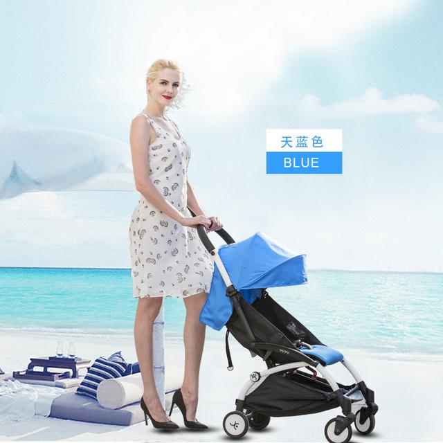2016 Novo design dobrável de alumínio carrinho De bebê de Luxo