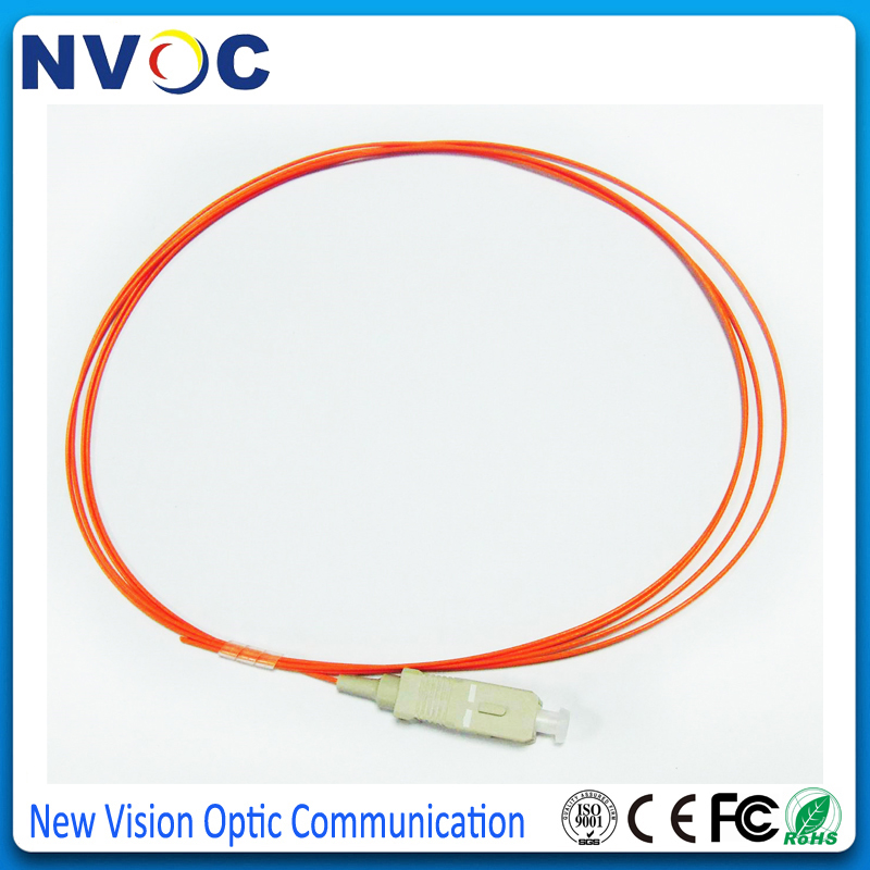 50 шт./лот, 1,5 м 0,9 мм ПВХ оболочка мм 50/125 SC UPC волоконно-оптический косичка, SC/UPC многорежимный Simplex волоконно-оптический кабель