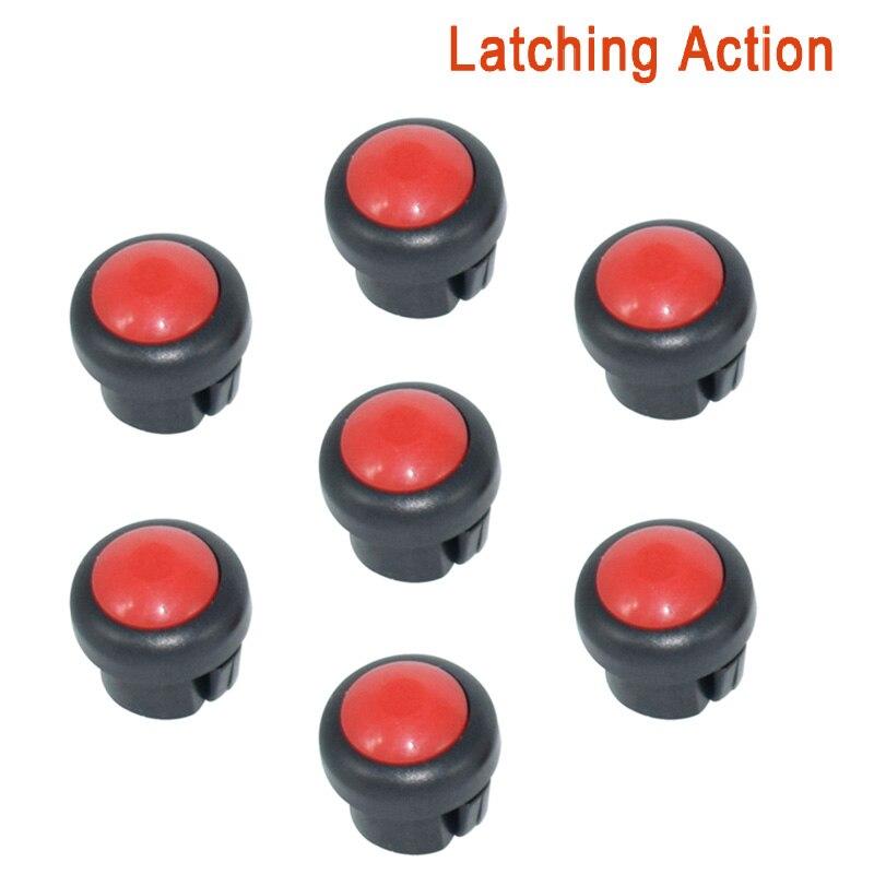 7 x кнопка включения мотоцикла сигнал поворота Высокий Низкий Луч Электрический старт Kill ON OFF кнопки мгновенного действия с фиксацией - Цвет: Red A