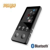 FGHGF Neue Metall Bluetooth MP4 Player 8 GB 1,8 Zoll Bildschirm Spielen 50 stunden mit FM Radio E-buch Audio Video Player Portable Walkman