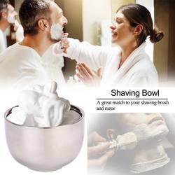 Блестящая высококачественная двухслойная из нержавеющей стали, теплоизолирующая изоляция, гладкая чашка для бритья для мужчин, мужская