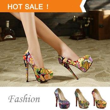 f2122a93ff448 Free shipping women sexy red bottom high heels fashion ladies shoes fashion  woman 2013 new platform pumps girls flowers printed