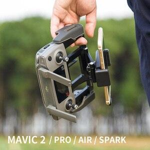 Image 2 - Металлический держатель для пульта дистанционного управления DJI, держатель для планшета, опорный лоток для телефона DJI MAVIC Air 2 /PRO /Air /Mavic 2 /Mavic MINI /Spark