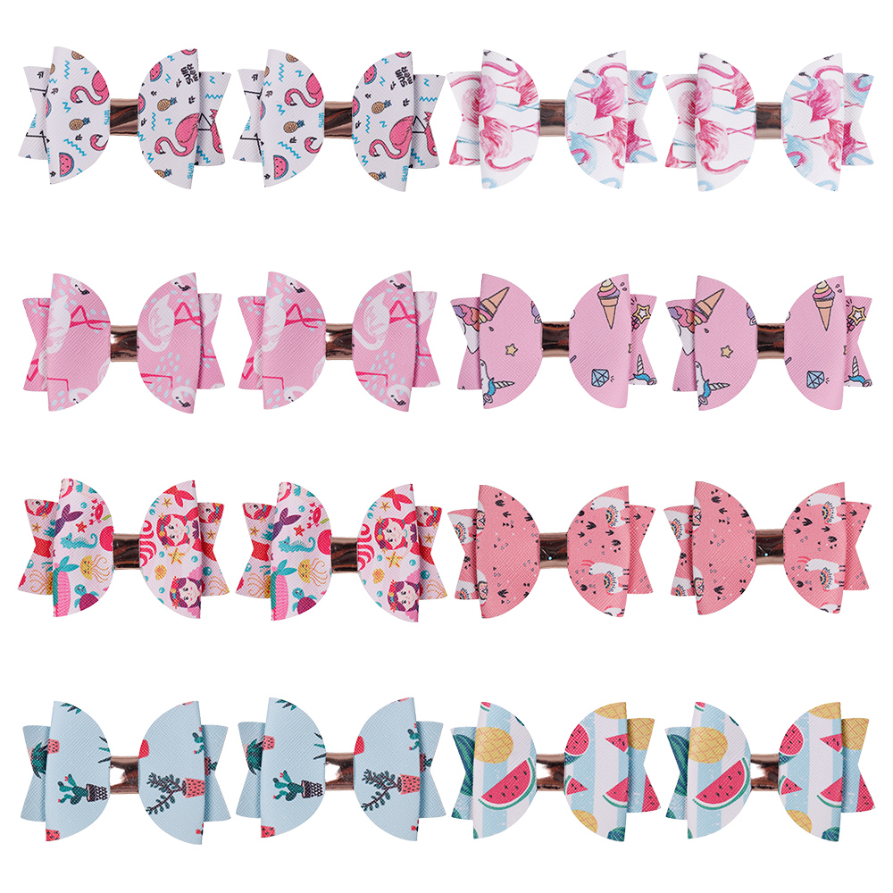 Hair Bow Ribbons Assorted Lot of Unicorn Rainbow Colour Girls/' Cute Accessories