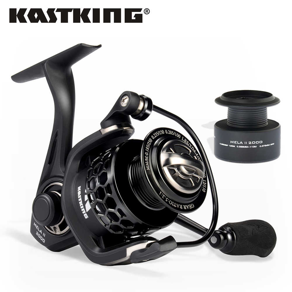 KastKing Mela/Mela II Upgrading Carbon Fiber Drag Spinning Reel with Extra Spool Freshwater Fishing Reel Free Shipping
