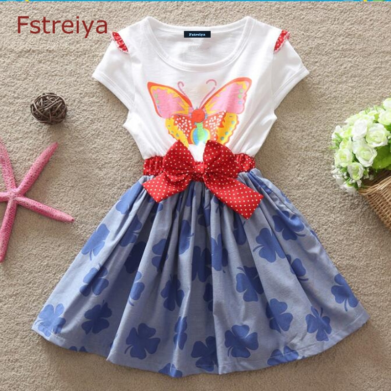 Baby girls Bowknot dresses kids lol dolls costume girl princess belle dress Fstreiya summer 2018 children casual Bow clothes in Dresses from Mother Kids