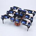 Conjunto completo de 6 Pernas 18 DOF Hexapod Robô Aranha RC Mini Robot Aranha Preto Com 18 pcs SG90 Servo Motor