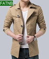 Autumn Men Jackets New 2016 Slim Fit 100% Cotton Long Style Casual Coats veste homme Breathable Man Clothing