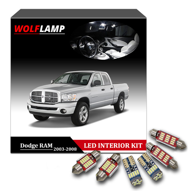 Wolflamp 11pcs Ice Blue Led Interior Car Lights For 2003 2008 Dodge Ram 1500 2500 3500 Map Light Dome Lamp License Plate Bulb