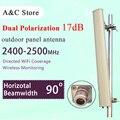 90 grados al aire libre panel de antena mimo 2.4G 17dBi sectorizado n-hembra conector antena wifi dual polarizationfor ap sector de alta ganancia