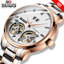 HAIQIN Watches Mens Mechanical Tourbillon Luxury Automatic Top-Brand Reloj Hombres