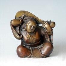ATLIE Pure Bronze Sarasvati Devi Mantra Figurine Japan Myth Goddess Fairy Brass Statue Sculpture