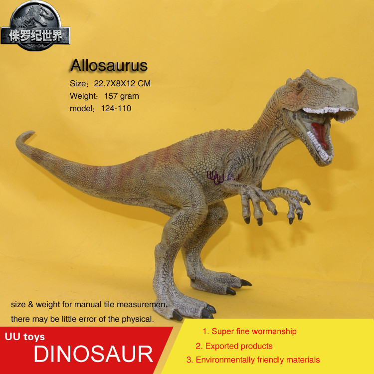 New Allosaurus Jurassic Plastic Dinosaur Toys Model Action Figures Boys Gift toys for ch ...
