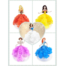 5PCS 2019 110mm H Colorful Magic Growing Paper Dress Infanta Tree Mystic Princess Trees Educational Science Toys For Children