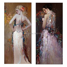 Huge Modern famous figure Oil Painting From Gustav Klimt Women oil painting vertical wall picture art for living room home decor