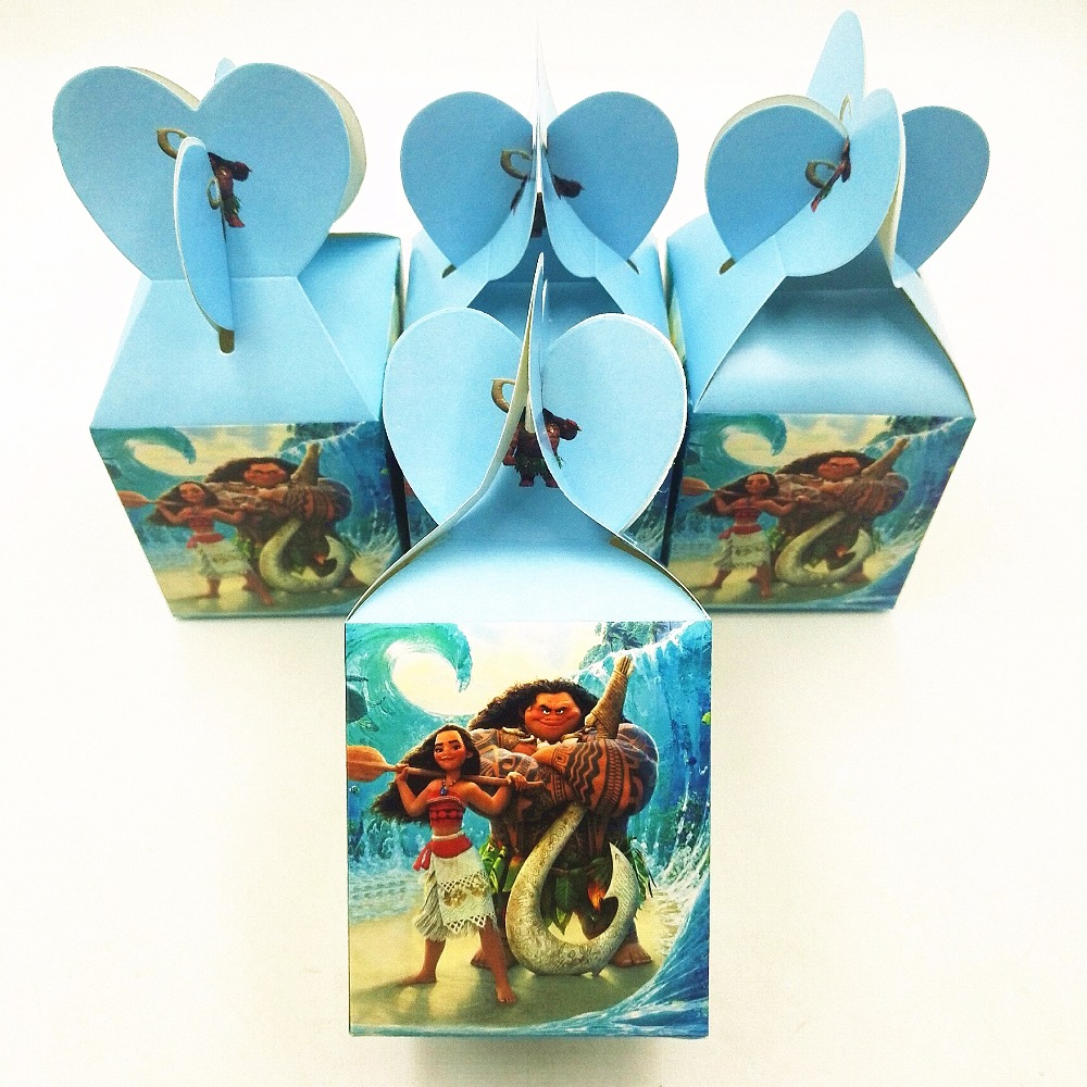 6pcs Princess Moana Themed Birthday Party Decorations Favors