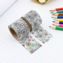 2017 NEW Wide DIY Coloring Washi Tape Japanese Paper Kawaii Scrapbooking Tools Masking Tape Decorative Stationery Tapes 30mm*5m