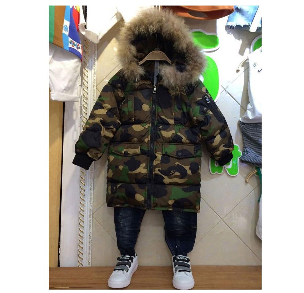 f50216ba6 weiqinniya Boys Down Parka Jackets Winter Jacket For Boy Children  Windbeaker Parka Coat Russian For Boy Hooded Camouflage Jacket