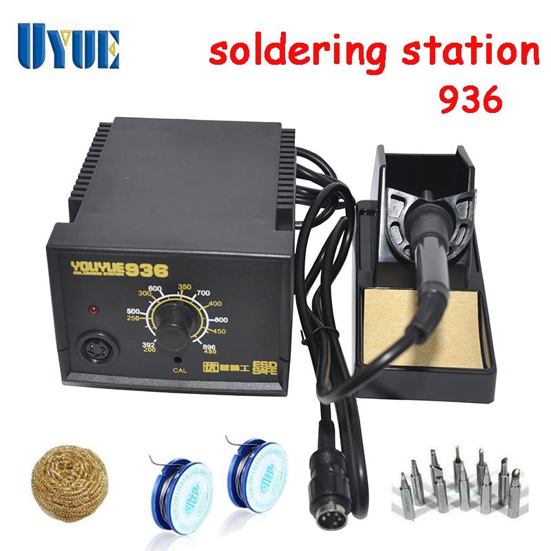ФОТО UYUE Soldering Station Digital Solder Iron EU Plug 220V Free shipping 936