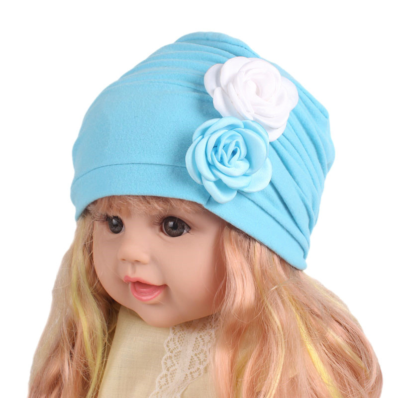 New Flower Design Baby Hats Fashion Childrens Cotton Hat Girls Knitted Cap Baby Beanie Cap Accessories