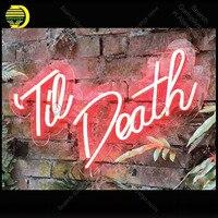 Precio Letrero de neón para Til Death Neon boda signo de bombilla de neón cerveza decorar habitación