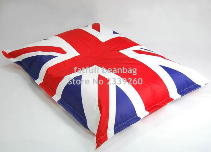 Cover Only No Filler Union Jack English Flag Bean Bag