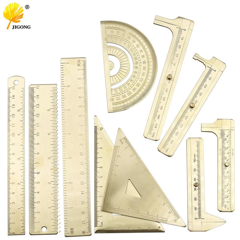 Mini Metal Scale Brass Sliding Gauge Vernier Caliper Pocket Measuring Ruler