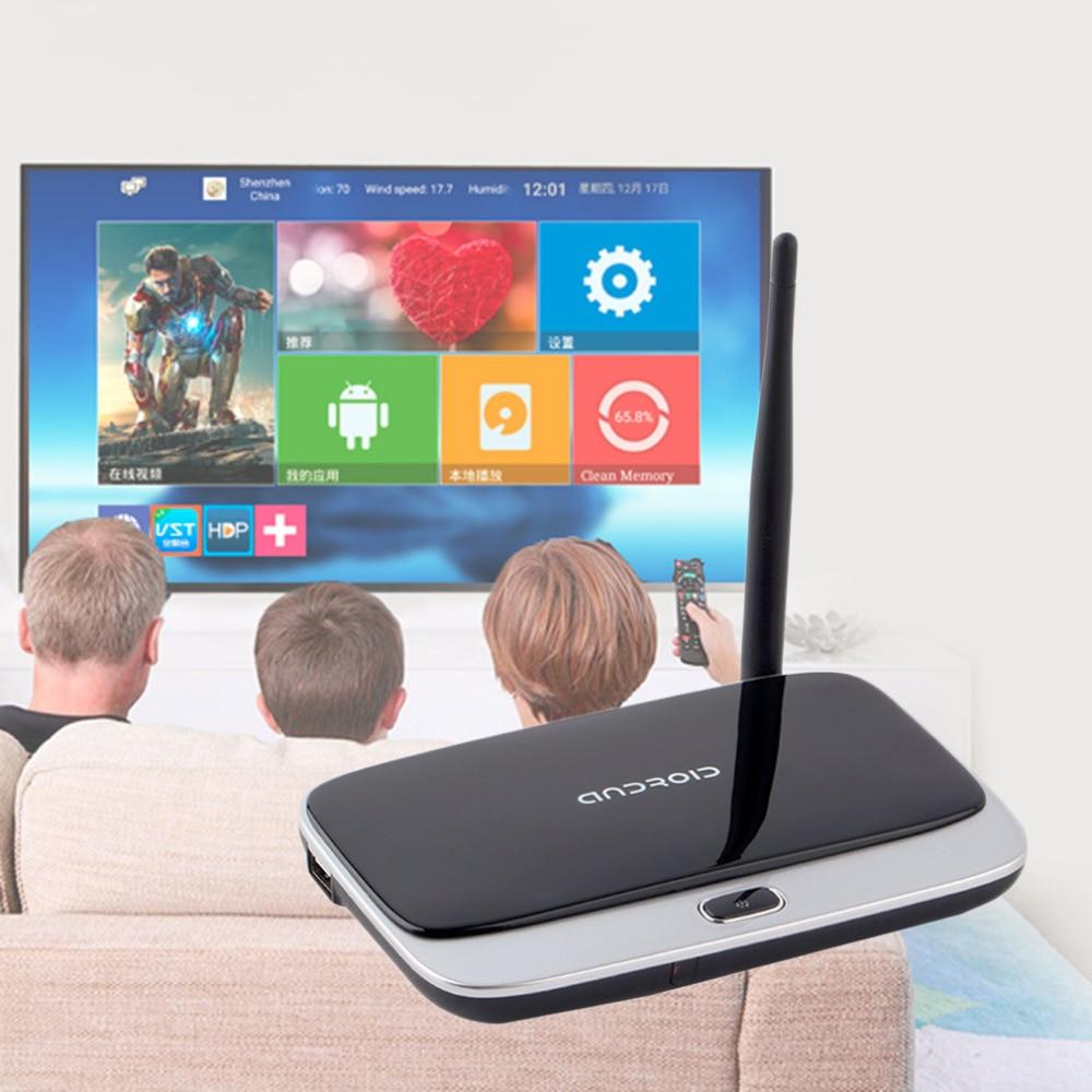 UE/EE.UU. Plug CS918 Andriod 4.4 Smart TV Box Quad Core 2 GB RAM 16 GB ROM Incorporada en Bluetooth 3G WIFI Android TV Box lo nuevo