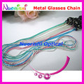 6pcs Fresh Colors Metal Sunglasses Eyewear Glasses Spectacle Sungass Eyeglasses Cord Chain Strap Lanyard free shipping L509
