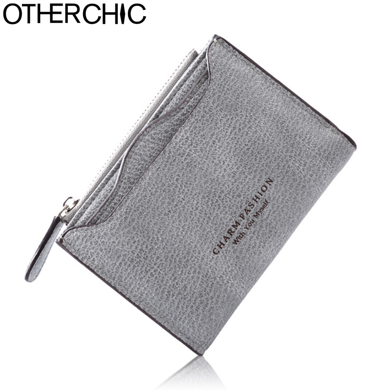 OTHERCHIC Nubuck Leather Women Short Wallets Ladies Fashion Small Wallet Coin Purse Female Card Wallet Purses Money Bag 7N06-03 otherchic women short wallets small simple wallet zipper coin pocket purse woman female roomy wallet purses money bag 7n01 14