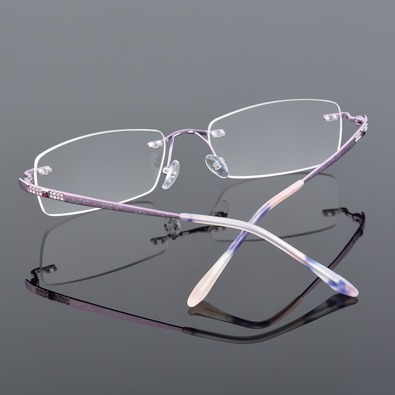 2017 XINZE New Pure Titanium Fashionable Lady Eye Glasses Diamonds - Αξεσουάρ ένδυσης - Φωτογραφία 3