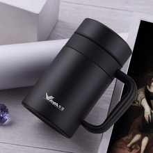 ONE thermocup 420ml Stainless Steel Vacuum Mug Filter Thermos Coffee Men Office Cup Thermoses Bottle Insulated Thermal Cup therm creative stainless steel simulation slr camera lens thermos mug cup w cup lid black 420ml