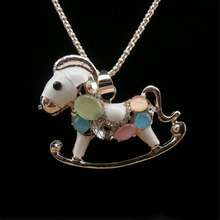 A childhood Trojans sweater chain necklace Z3099 full clear opal