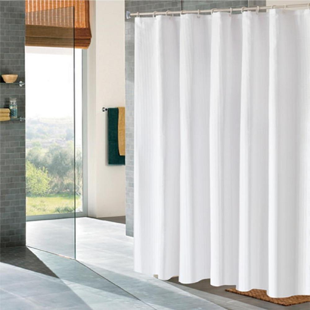 White Five Star Hotel Bathroom Bath Shower Curtain Custom Luxury Curtains Waterproof Fabric Free Shipping