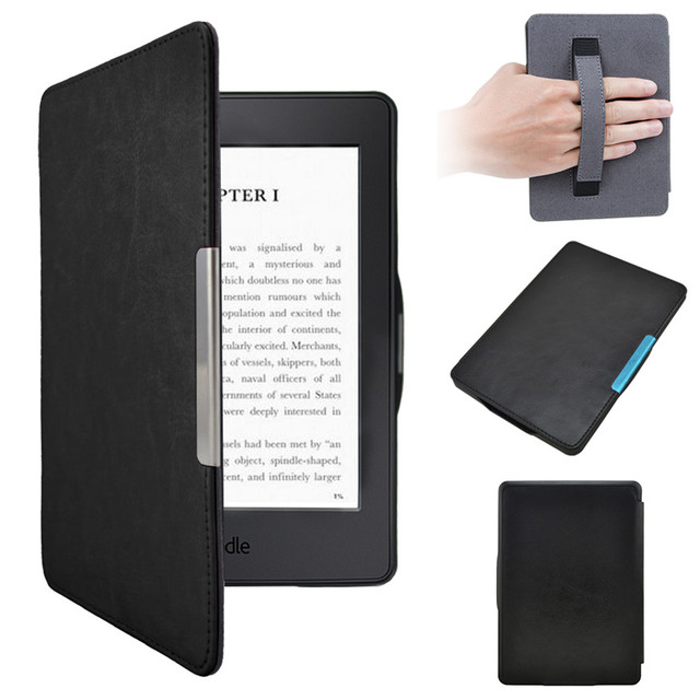 US $13 99 |PU Leather eReader Case For Amazon Kindle Paperwhite 123 Ebook  Reader Cover Cases Auto Sleep Wake up Protector Electronics Book-in eBook