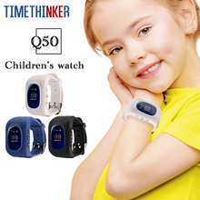 Timethinker Q50 Smart Watch Kids GPS AGPS LBS Watch SOS SIM Card Relogio Child Smartwatch Anti-lost Baby Wristwatch