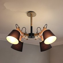 JAXLONG Nordic Pendant Lights Decor Bedroom Cafe Restaurant Lamp Log Robotic Spider Telescopic Light Fixtures hanglamp