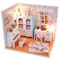 Hot! 4 Patterns Unique Cute Funny Childhood DIY Light Model Pocket Doll Hut Handicraft Gift New Sale