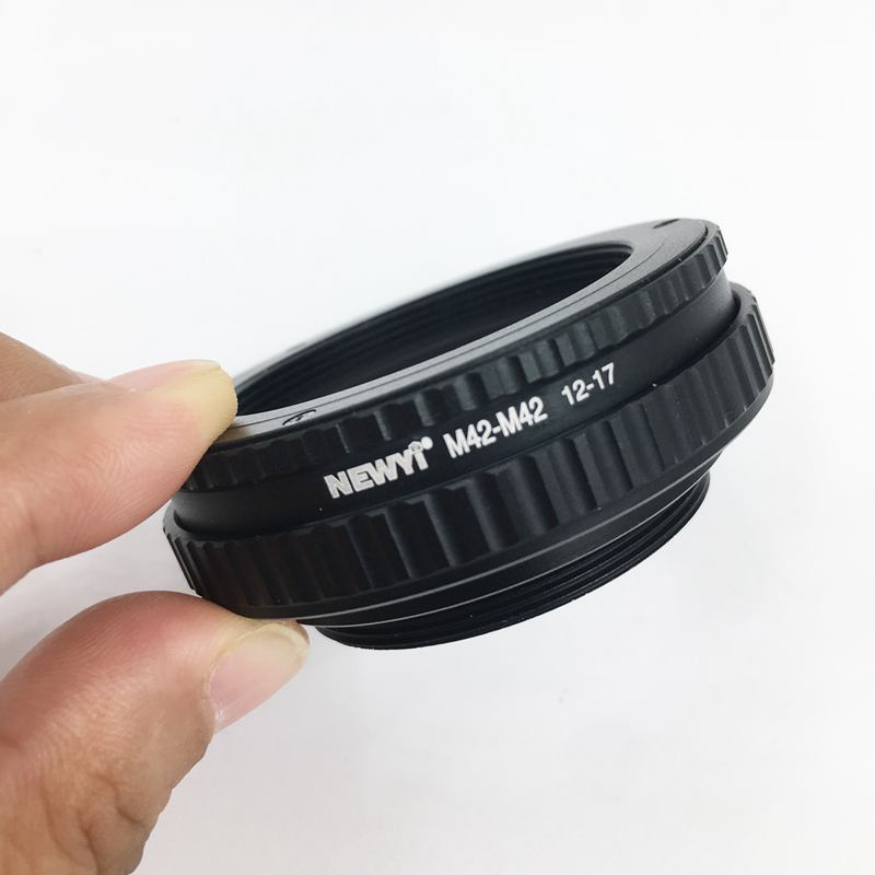 Image 5 - NEWYI M42 to M42 Focusing Helicoid Ring Adapter 12   17mm Macro Extension Tube camera Lens Converter Adapter Ring-in Lens Adapter from Consumer Electronics