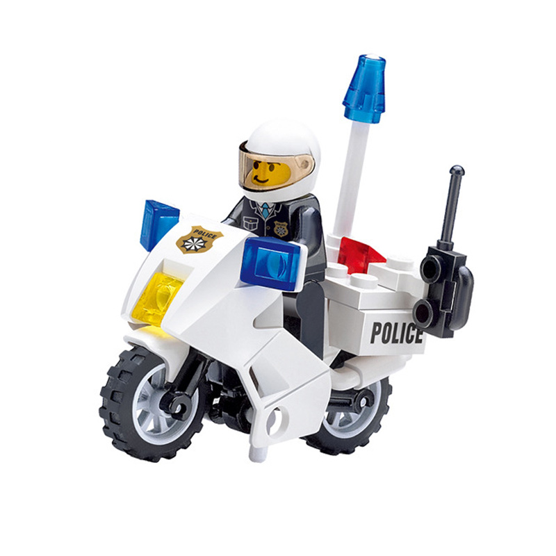 KAZI 6734 Police Motorcycle Playmobile Building Blocks Police Motorbike Bricks Kids Boys Gift Educational Toys For Children dayan gem vi cube speed puzzle magic cubes educational game toys gift for children kids grownups