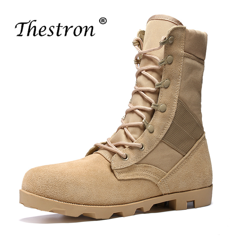 a8bce8e0f Best Selling Botas Táticas Militares Marrom Preto Sapatos Casuais  Masculinos Hard-Wearing Botas Ao Ar