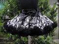 Лето девочка симпатичные пушистые юбка с черным бантом PETS-079
