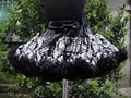 Verano del bebé lindo del pettiskirt mullido tutu con arco negro PETS-079