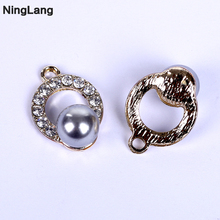 New Pendants Circle Pendant for Choker Necklace Women White Imitation Pearl Jewelry Collares Colar