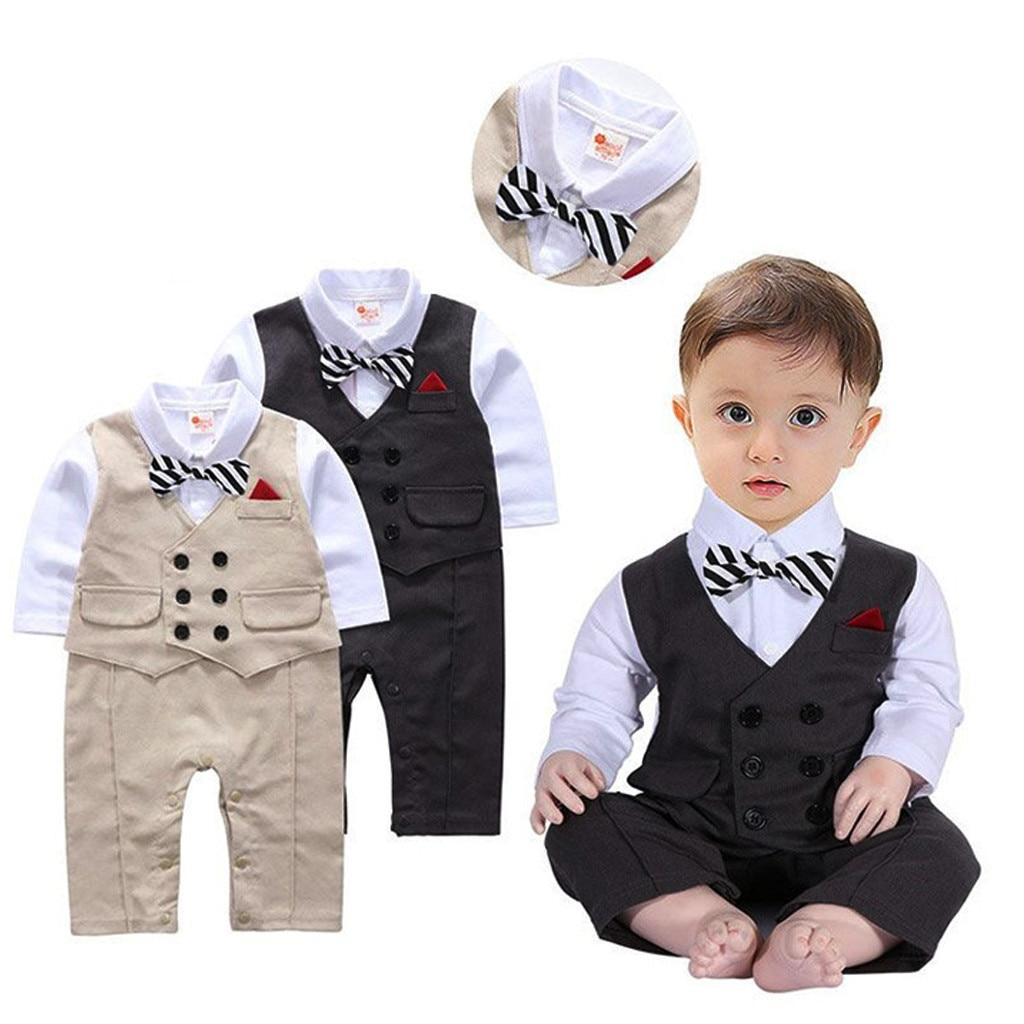 MUQGEW Baby Suit Wedding Toddler Baby Boy Bowtie Gentleman Vest T-Shirt Pants Wedding Suit Cloth Sets Roupa Infantil Inverno#y2